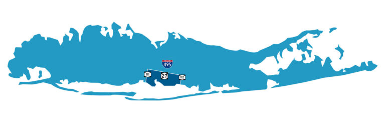 map of Long Island showing pool maintenance services
